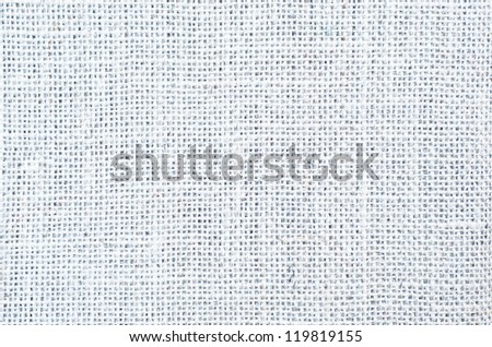A woven hessian texture background in white.