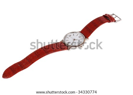 a wrist watch isolated on white background