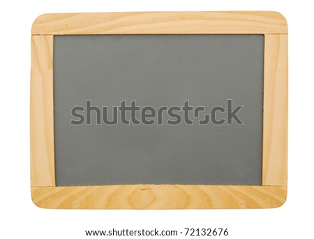 A writing board isolated white