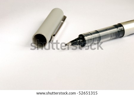 A writing pen on the upper part of the picture