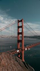 A 9x16 image of the Golden Gate Bridge in San Fran