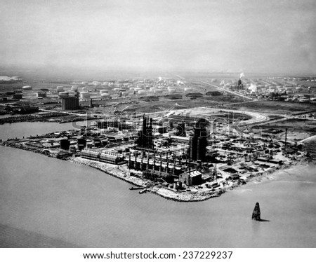 A year after the worst peacetime explosion in US history the Monsanto Chemical Company plant at Texas City is rebuilding March 24.