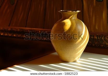 A yellow vase
