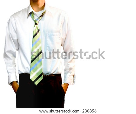striped tie with a striped shirt. The Green Striped Tie