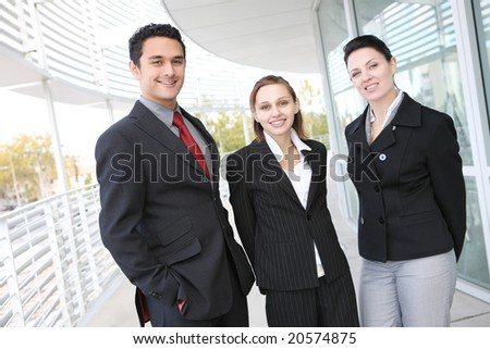 A young and diverse man and woman business team at office