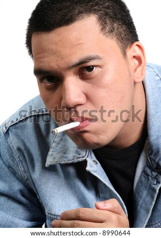 stock photo : A Young Asian Teen Smoking. Save to a lightbox ▼