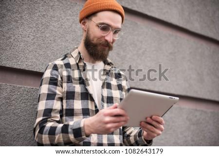 96cad29007f Royalty-free Bearded Muscular Man Wearing Black…  468538247 Stock ...