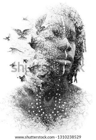 A young black man dissolves into his imagination