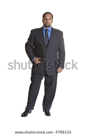 A young business man isolated on white background