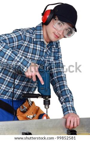 A young carpenter.