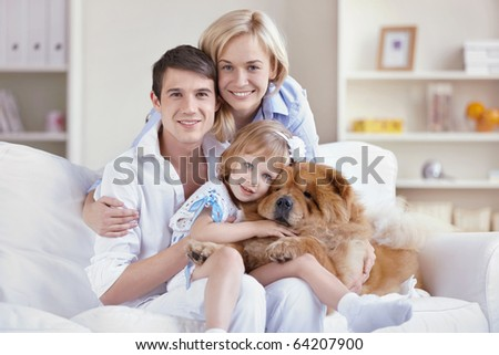 A young family at home