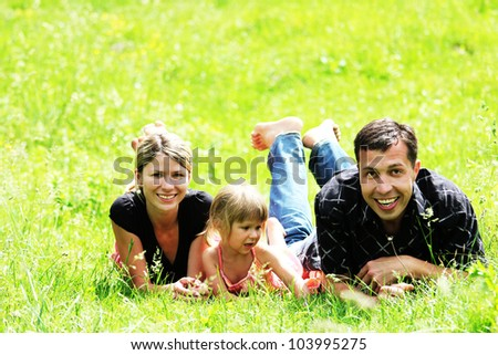 a young family on the field