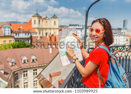 Tourists Couple Travel Having Fun Stock Photo 100118177