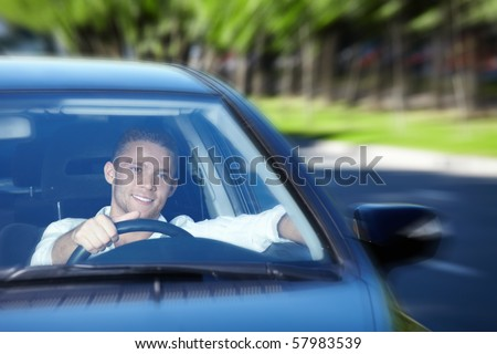A young man goes to the car