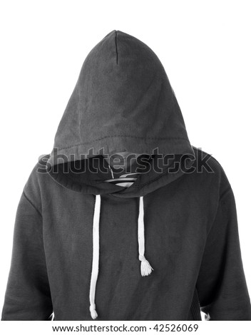 A young man in a hoodie with face hidden