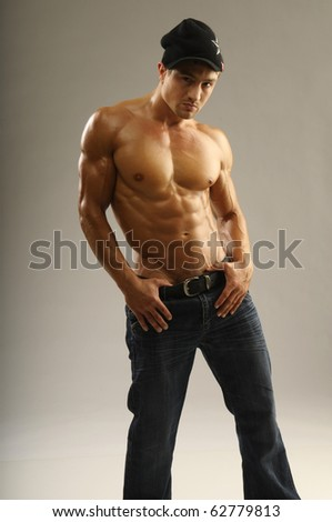 A young man with muscles