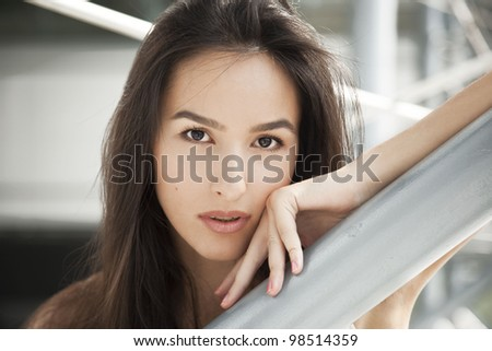 A young woman, a beautiful portrait