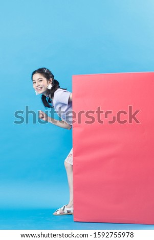 A young woman isolated on background