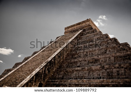 a Ziggurat in Chichen Itza, Yucatan, Mexico