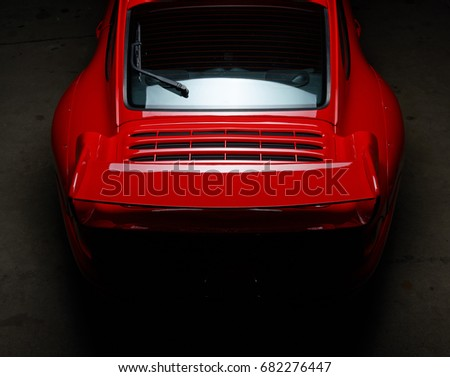 Aachen, Germany, June 14, 2013: Arranged Street shot of an historic Porsche 911.  Editorial, documentary, or private use only