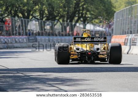 AARHUS, DENMARK - MAY 24 2015: Barry Walker in a Jordan EJ12 formula one racing car at the Classic Race Aarhus 2015