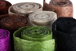 Abaca fabric. Handmade Abaca Fiber Sheet Craft.  Abaca Scrunch Mesh Roll. This can be used for flower arrangement and decorations, DIY crafts and projects such as  packaging.