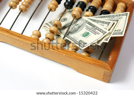 abacus and dollar