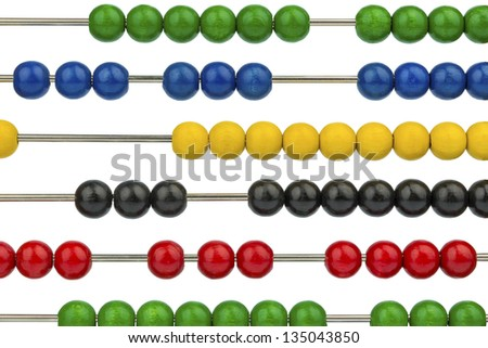 abacus with colored beads, symbol photo for finance, costing and accounting