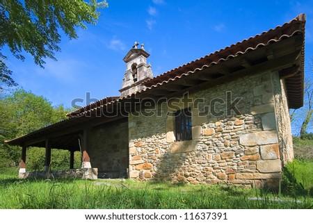 Abadiño's hermitage Foto stock ©