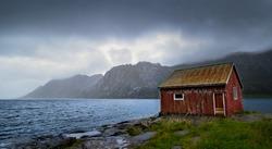 Abandond boat house in Norway, Lofoten