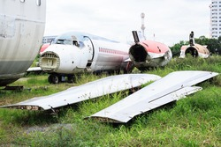 Abandoned Airplane,old crashed plane, plane wreck tourist attraction, Old plane wreck