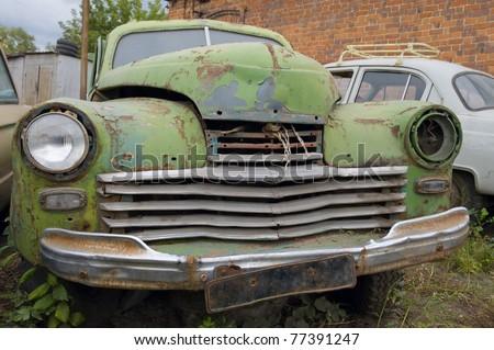 Abandoned an old broken car