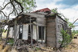 Abandoned and dilapidated house in Texas