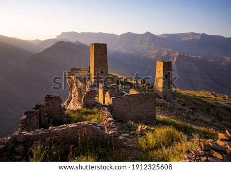 Abandoned auls of Dagestan in the Caucasus mountains