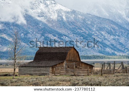 abandoned barn at mormon row in ...