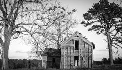 Abandoned barns in rural Arkansas.