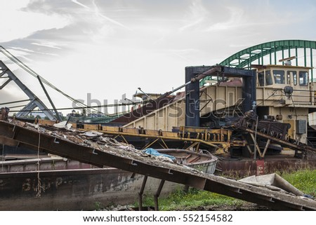 Abandoned boat construction yard ship junk wrecks rusty for Outboard motor salvage yard