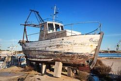 Abandoned boat wreck