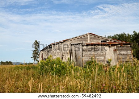Abandoned building along the south coast of the Gulf of St. Lawrence