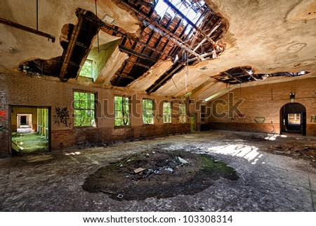 Abandoned building from the Manteno State Mental Hospital in Manteno, Illinois