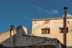 Abandoned building in Andalusia, Spain - run down old building - abandoned factory building