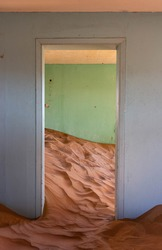 Abandoned Building in United Arab Emirates desert