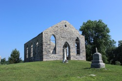 Abandoned Calvin Presbyterian Church in Rivière-LaGuerre, Qc. Was built around 1840 and was used until WWII