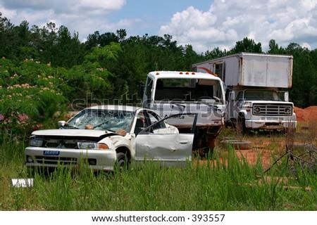Abandoned Car and Trucks