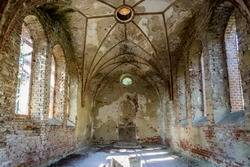 Abandoned chapel aristocratic family in Poland, Europe