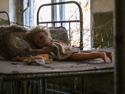 Abandoned children's toys at kindergarten, Chernobyl Exclusion Zone