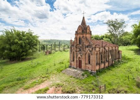 Abandoned church at Galia, Sao Paulo, Brazil Zdjęcia stock ©