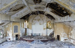 Abandoned church in Detroit Michigan.