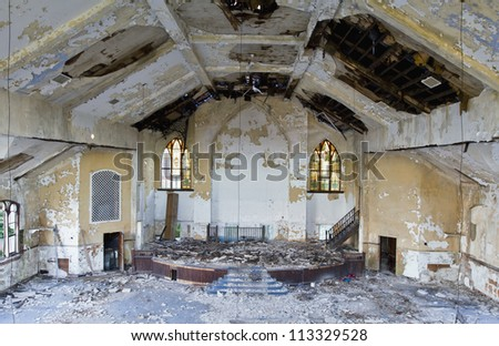 Abandoned church in Detroit Michigan.