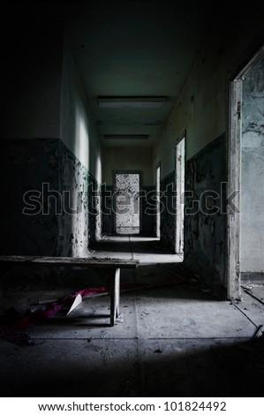 Abandoned corridor in pripyat school 2012